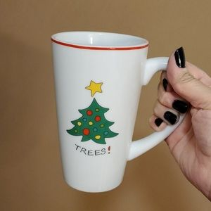 """Fitz and Floyd Holiday """"Trees"""" Tall Coffee…"""